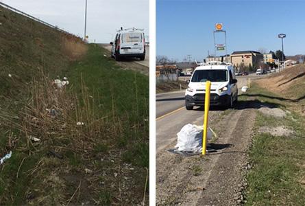 Keeping Erie PA highways clean